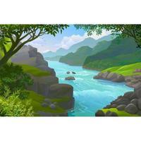 Rio em uma selva