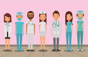 medical health care professionals vector