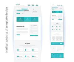 medical website ui template design vector