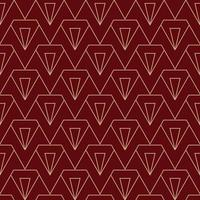 motif diamant art déco simple en marron et or