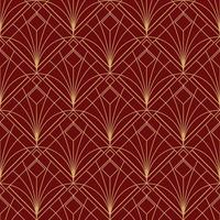 motif marron rouge géométrique simple sans couture art déco