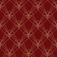 Simple elegant art deco seamless pattern red maroon pattern
