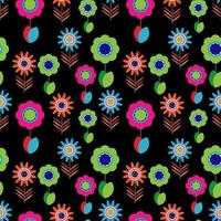 Bright colorful flower pattern