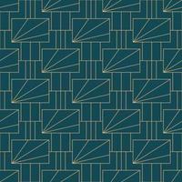 Einfaches nahtloses geometrisches Muster des Art Deco