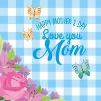 mothers day card gingham vector