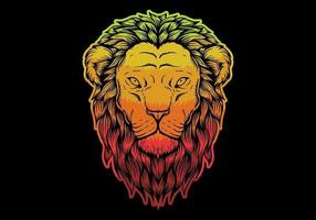 Colorful Lion head