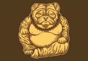 Budai Pug illustration
