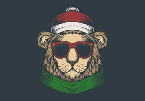 Kerst leeuwenkop