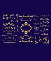Calligraphic frame design set vector