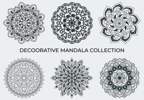 Decoratieve Mandala's-collectie in zwart en wit