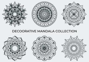 Round mandala set isolated on white background