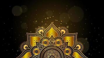 Golden Mandala with Bokeh vector