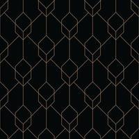 padrão geométrico de cubo sem costura art deco