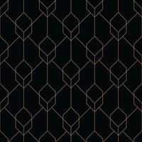 cube seamless art deco geometric pattern vector