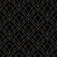 black and gold art deco geometric pattern vector