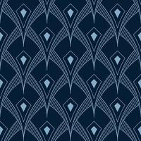 pointed overlapping shape seamless art deco geometric pattern vector