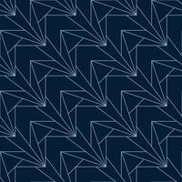 blue angular seamless art deco geometric pattern