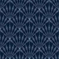 padrão geométrico de fã floral sem costura art deco