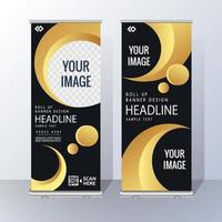Elegante moderno amarillo negro vertical Roll Up Banner