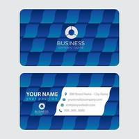 Abstract Alternating Blue Business Card Design