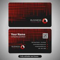 Red Lines Cross Hatch Business Card vector