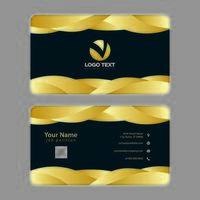 Plantilla de tarjeta de visita - montones superpuestos de oro