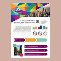 Colorful Bright Low Polygon Business Brochure Template