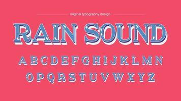 Fonte artística do Serif personalizado floral azul