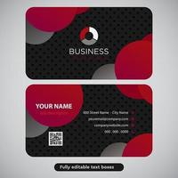 Grey Red Circle Business Card Design