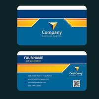 Blue Orange and Yellow Line Simple Business Card