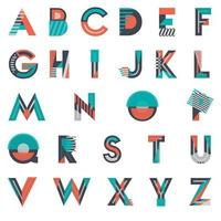 Colorful Abstract Shapes Artistic Font Design