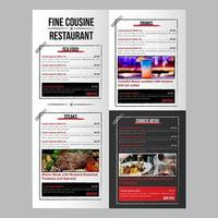 Editable Food Restaurant Menu Template with Brush Stroke Boxes