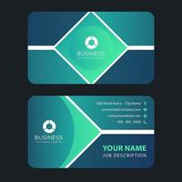 Abstract Green Diamond Business Card Template vector