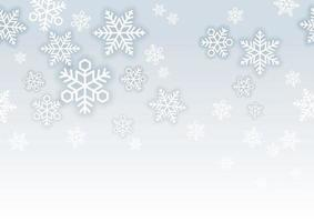Seamless snow background illustration with text space. Horizontally repeatable.