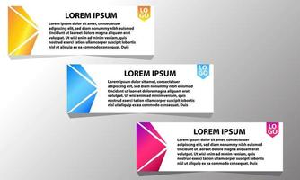 Banner design template set vector