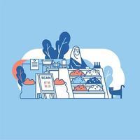 Ilustración de encargado de tienda