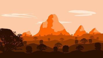 Lever du soleil dans le désert