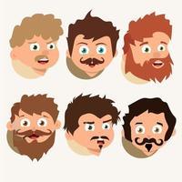 Vector de estilos de cabello y barbas
