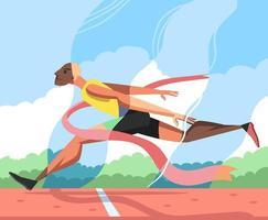 Un corredor está entrenando