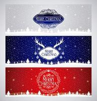 Banners de feliz Natal vetor