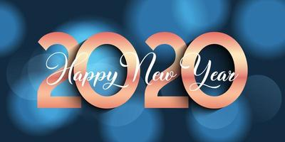 Happy New Year banner design with bokeh lights