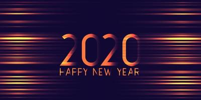 Futuristic glowing Happy New Year banner design