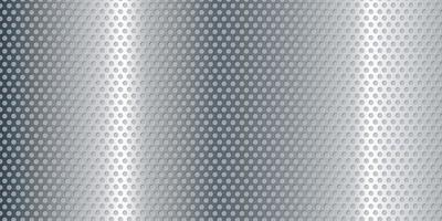 Perforated metallic silver  banner background