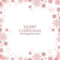 Christmas and New Year snowflakes card