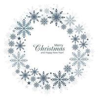 Fundo de cartão de flocos de neve de Natal e ano novo