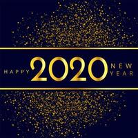 Funkeln-Feierhintergrund des neuen Jahres 2020
