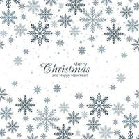 Abstract decorative snowflakes card festival