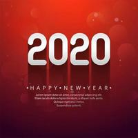 Celebration new year 2020 raised text design vector