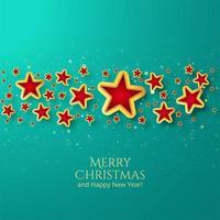Hermoso fondo de estrella de tarjeta de Navidad vector