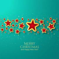 Beautiful christmas card star background